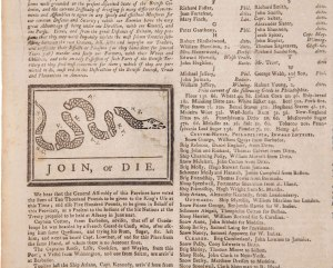 A page from the Penn Gazette- May 9, 1754.