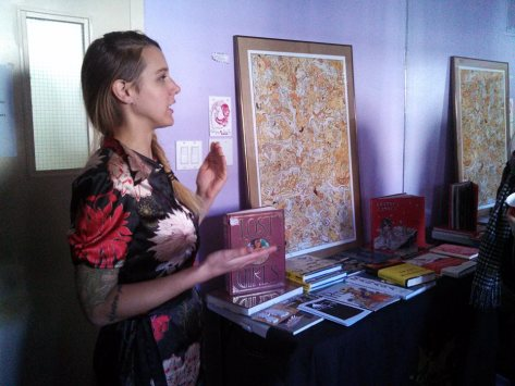 Presenter Nicole Marie Guiniling on the history of comic erotica - Toronto, 2013