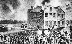 slavery mob burning