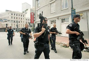 Blackwater (Academi) military contractors deployed in New Orleans, 2005