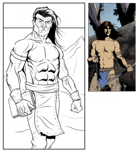 ONE TRIBE --- AD ASTRA COMIX - comparison of 2 Aboriginal characters