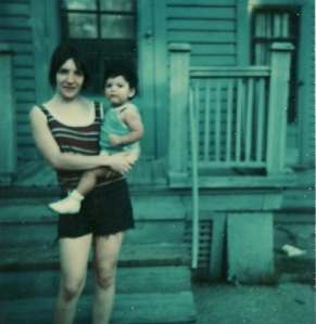 A young Jay Odjick with his Mom in Rochester, NY.
