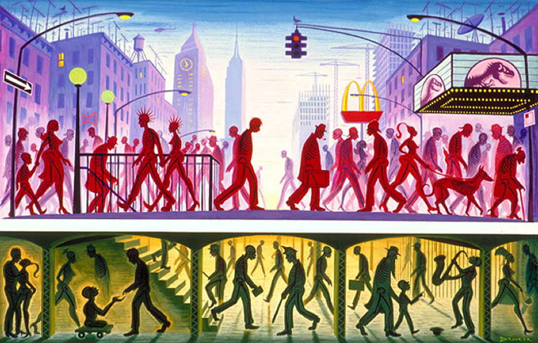 eric drooker people walking